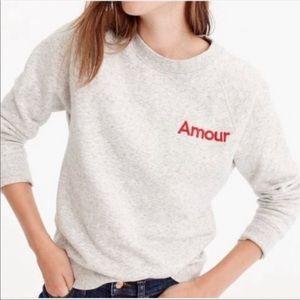 J. Crew Medium Amour Sweatshirt Jumper Marl Gray